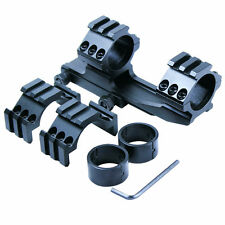 """Tactical 30mm / 1"""" PEPR Cantilever Rifle Scope Mount with Extra Tri-rail Rings"""