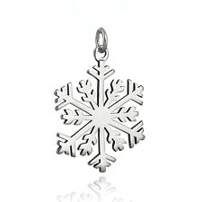 Snowflake Pendant - 925 Sterling Silver - Large Winter Christmas Holiday NEW