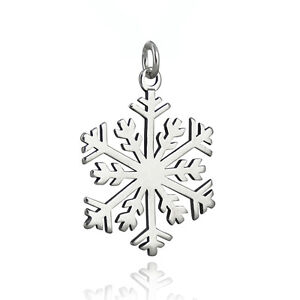 Snowflake Pendant - 925 Sterling Silver - Winter Christmas Holiday Weather Snow
