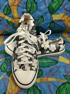 Converse Chuck Taylor All Star X Warhol M9 W11 UK 9 EU 42.5 natural black floral