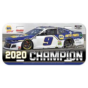 Chase Elliott #9 Napa 2020 NASCAR CUP SERIES CHAMPION LICENSE PLATE L@@K