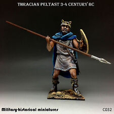 Thracian peltast, Tin toy soldier 54 mm, figurine, metal sculpture HAND PAINTED