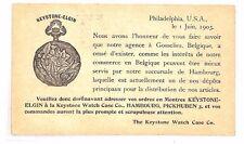 BF259 1903 USA Publicité entiers postaux carte Keystone Watch Case VIGNETTE