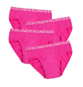 BONDS Kid's Hipster Underwear 4 Pack PINK or BLACK
