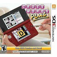 Crosswords Plus: Nintendo 3DS [Brand New]