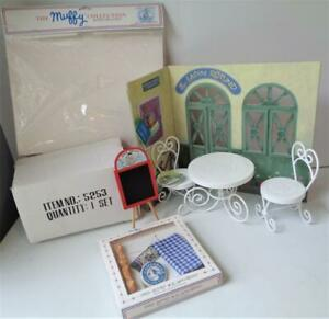 Muffy VanderBear PARIS BISTRO Food Set Parlor Table Chairs Teddy Bear Furniture