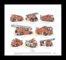 Fire Engines Dennis Merryweather AEC Bedford Art Print