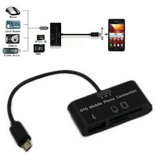 3in1 USB Connection Kit HUB Reader Adapter SD Micro-SD Card For OTG Mobile Phone