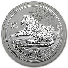 2010 5 oz Silver Australian Perth Mint Lunar Year of the Tiger Coin - SKU #54870