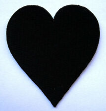 BLACK HEART LOVE POKER CARD Embroidered Iron on Patch Free Postage