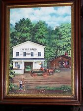 Framed Painting Little Bros. Builders Supplies Signed By R. C. Beitel - 1980s
