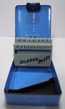 Bohrer Leerkassette 1,0-10 x 0,5mm 19-tlg Box Leer Metallkassette Bohrermagazin