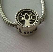 Family Tree Love Silver Bead for European Style Charm Bracelets Necklace
