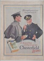 Vintage 30's Ad For Chesterfield Cigarettes