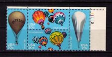 US USA Sc# 2035a MNH FVF PLATE # BLOCK Hot Air Balloons Intrepid Explorer II