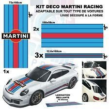 "Le Mans Martini Racing Stripe + Logo ""universel*"" Sticker bandes PORSCHE 911 BMW"