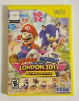 Mario & Sonic at the London 2012 Olympic Games (Nintendo Wii, 2011) Disc & Case