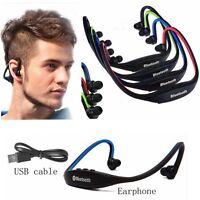 Wireless Bluetooth Sport Earphones Stereo Headphone Headset For iPhone Samsung