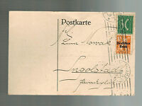 1921 Munich Germany Postcard cover to Ingalsbad