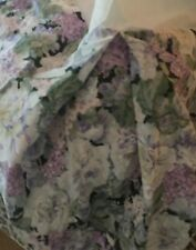 Rare Eileen West Delphinium Blue Purple Floral Ruffled Queen Bed Skirt