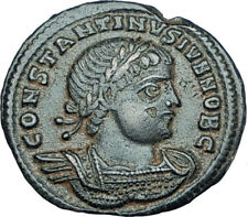 CONSTANTINE II Jr Genuine 330AD Authentic Ancient Roman Coin SOLDIERS i65931