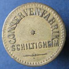Old Rare Deutsche token -Schiltigheim Conservenfab -1pf 28354.1 -mehr am ebay.pl