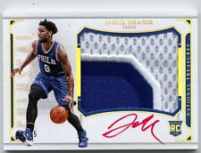 2015-16 Panini National Treasures Jahlil Okafor 3CLR Red Auto Patch RC #02/25