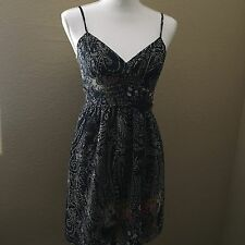 Staring At Stars Women's Urban Outfitters Floral Gray Blue Dress Size 6