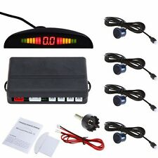 New 4 Parking Sensors best LED Car Reverse Backup Radar Kit + Backlight blue