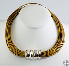 Simon Sebbag Indian Sun leather necklace magentic sterling silver bead MLN4/INDS