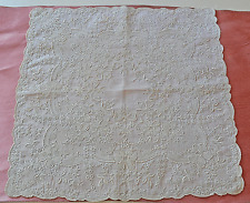 EXQUISITE VINTAGE EMBROIDERED APPENZELL WEDDING HANKY SS925