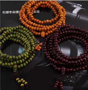 6mm 216pcs Sandalwood Buddha Bead Meditation Prayer Bead Mala Bracelet/Necklace