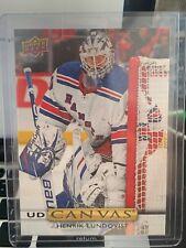 Henrik Lundqvist UD Canvas 2019-20 Upper Deck Series 2 Hockey Card C160