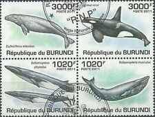 Timbres Faune marine Baleines Burundi 1185/8 o de 2011 lot 10856 - cote : 18 €