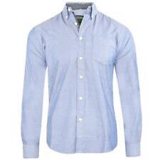hombre manga larga Camisa Oxford Cuello Abotonado 100% Algodón