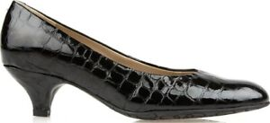 Van Dal Exeter Black Croc Ladies Court Shoe UK Size 8 EE Fitting