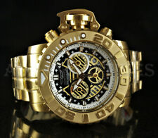 Invicta 70mm Sea Hunter GEN II 18k Gold Plated SWISS Movt Chronograph Watch NEW
