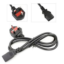 3m PC Power Cable Cord 3 Pin UK Main Lead with Fuse For Dell HP Computer Monitor