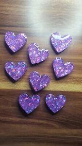 8pcs Small Purple Holographic Fridge Magnets Handmade Resin From GlitzyByLita