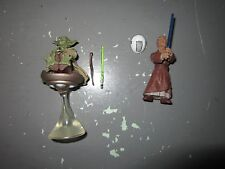 Chian Padawan Lightsaber Training Yoda w Hoverchair AOTC #15 Star Wars Loose