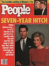 People Weekly August 1 1988 Charles & Diana, Micheal J. Fox VG 012816DBE