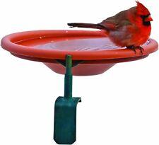 Audubon Deck Mount Bird Bath 1 Quart Cap Red