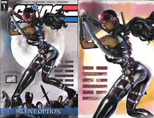 G.I. Joe Silent Option #1 Greg Horn SNAKE EYES Cover A & B NM