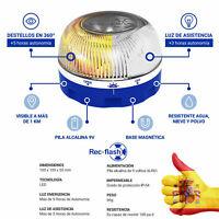 HELP REC FLASH Baliza de Luz de Emergencia ANTIATROPELLOS + Pila