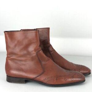 PRADA Men's Brown (Tan) Leather Dealers Chelsea Boots UK 8 | EUR 42 | US 9