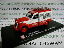 2CVAP59G voiture 1/43 ELIGOR Autoplus CITROËN 2CV n°38 camionnette Télé ARTHAUD