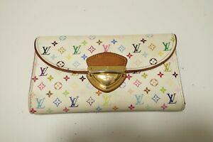 Authentic LOUIS VUITTON Portefeuille Eugenie Multicolor Long Wallet  #8782