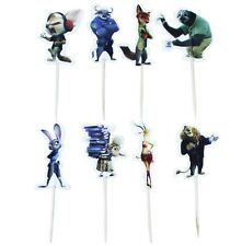 24 pcs Cupcake Cup Cake Decorating,Toppers PARTY DECORATION, Zootopia