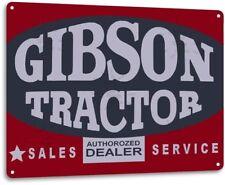 Gibson Tractor Sales Farm Equipment Tractor Metal Decor Tin Metal Sign
