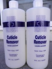 TWO BOTTLES of Blue Cross Cuticle Remover 32 oz each NEW!